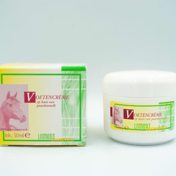 Voetcrème met natuurlijke paardenmelk