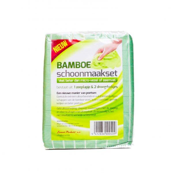 Bamboe schoonmaakset | zeeplapje + droogdoekjes