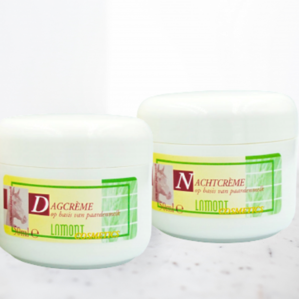 Huidverzorgingsset paardenmelk | dagcrème + nachtcrème